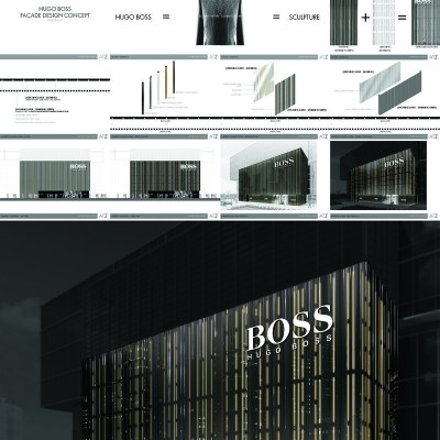HUGO BOSS FACADE DESIGN (INVITED COMPETITION) 2011 - WINNER